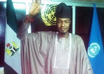 Amb.Mathew Adeniyi, taking oath of office