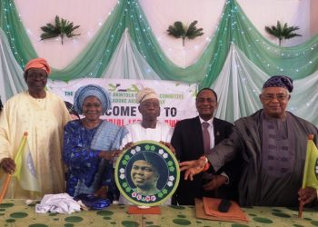 From left, Ambassador Yomi Akintola, Dr Bimbo Akintola, Representatives of Sultan of Sokoto, Dr SOB Babalola   Guest Lecturer,Professor Ralph A,Akinfeleye and  chairman of the ocassion Dr Yomi Finnih at the launching of Akintola Foundation in Lagos