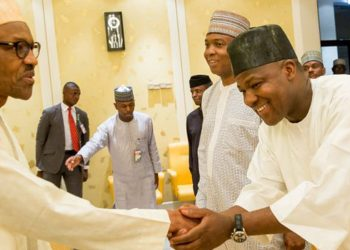 President Muhammadu Buhari, Senate President , Dr Bukola Saraki and Speaker of the House, Hon Yakubu Dogara