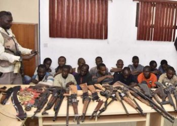 the suspects and the recovered firearms recovered from the , photo source www. thecable.com