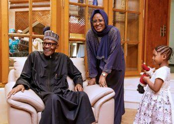 President Muhamadu Buhari and his wife Aishat