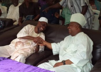 Governor Rauf Aregbesola and Late Isiaka Adeleke