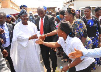 Governor Ajimobi with Oyo workers