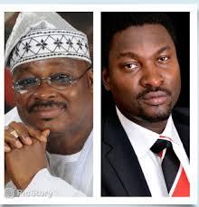 Executive Governor of Oyo State Senator Abiola Ajimobi and Adeniyi Adeagbo, caretaker chairman Itesiwaju Local Government