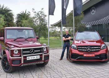 Roland Folger, MD & CEO, Mercedes-Benz India with Mercedes-AMG GLS 63 and Mercedes-AMG G 63 'Edition 463'.(Company Handout )