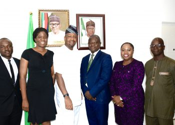 The  Director General,  Nigerian Tourism Development  Corporation  (NTDC) , Mr. Folorunsho  Coker  flanked by the President, Hotel &  Personal Services Employers' Association of Nigeria  (HOPESEA)  Ugbor Vincent  (Right);  Member, HOPESEA, Ebi Seimodei (2nd  Right); Executive  Secretary, HOPESEA, Adeniyi Ologun(3rd Right) and Member, HOPESEA, Omorinsola Sofola (Left); Member,  HOPESEA, Obinna Ijoma during  a courtesy visit to the Director General by HOPESEA on  collaboration and  partnership for sustainable  tourism development  held at the corporate headquarters of the corporation in  Abuja