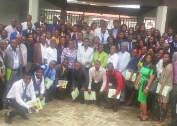 Group photograph of some of the participants after the opening ceremony