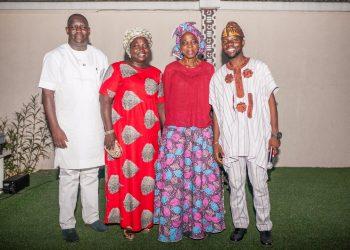 Segun Adebayo, Senior Special Assistant to the Governor of Ogun State on Facility Management; Mrs Adenike Adesanya; Mama Iyabode Aboaba, COO, Lork Enterprise LLP and Olutayo Irantiola, Atokun at the last edition of Yoruba Lakotun held at Ethnic Heritage Centre, Ikoyi recently