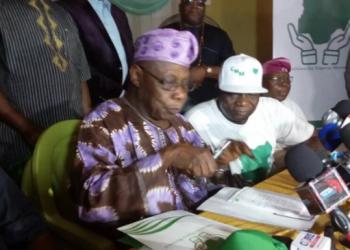 Chief Olusegun Obasanjo  during the launching of CMN in Abeokuta
