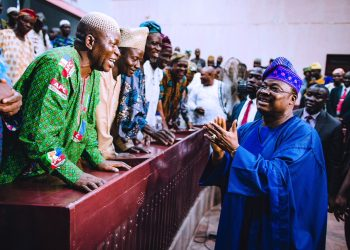 Governor Ajimobi meets with Meat Sellers and Abbateur Owners. 11th April 2018.