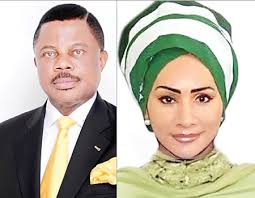 Governir Willie Obiano of Anambra state and Barr Sally Mbanefo, State commissioner for  tourism , art , culture and diaspora