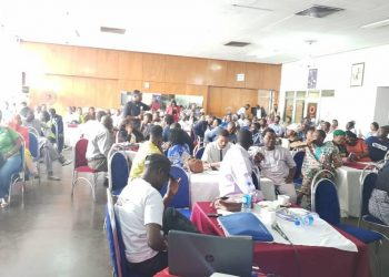 Cross section of the participants at the training