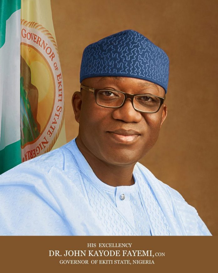 Fayemi crashes Right of Way charges from N4,500 to N145 per meter in Ekiti