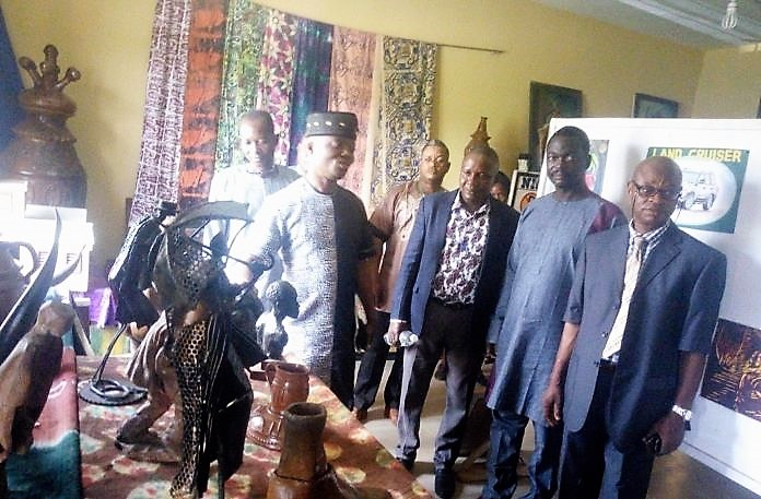 Director-General Ekiti state council for Arts and Culture and some the lecturers on a tour of Arts Gallery, Fine Arts Department of the college
