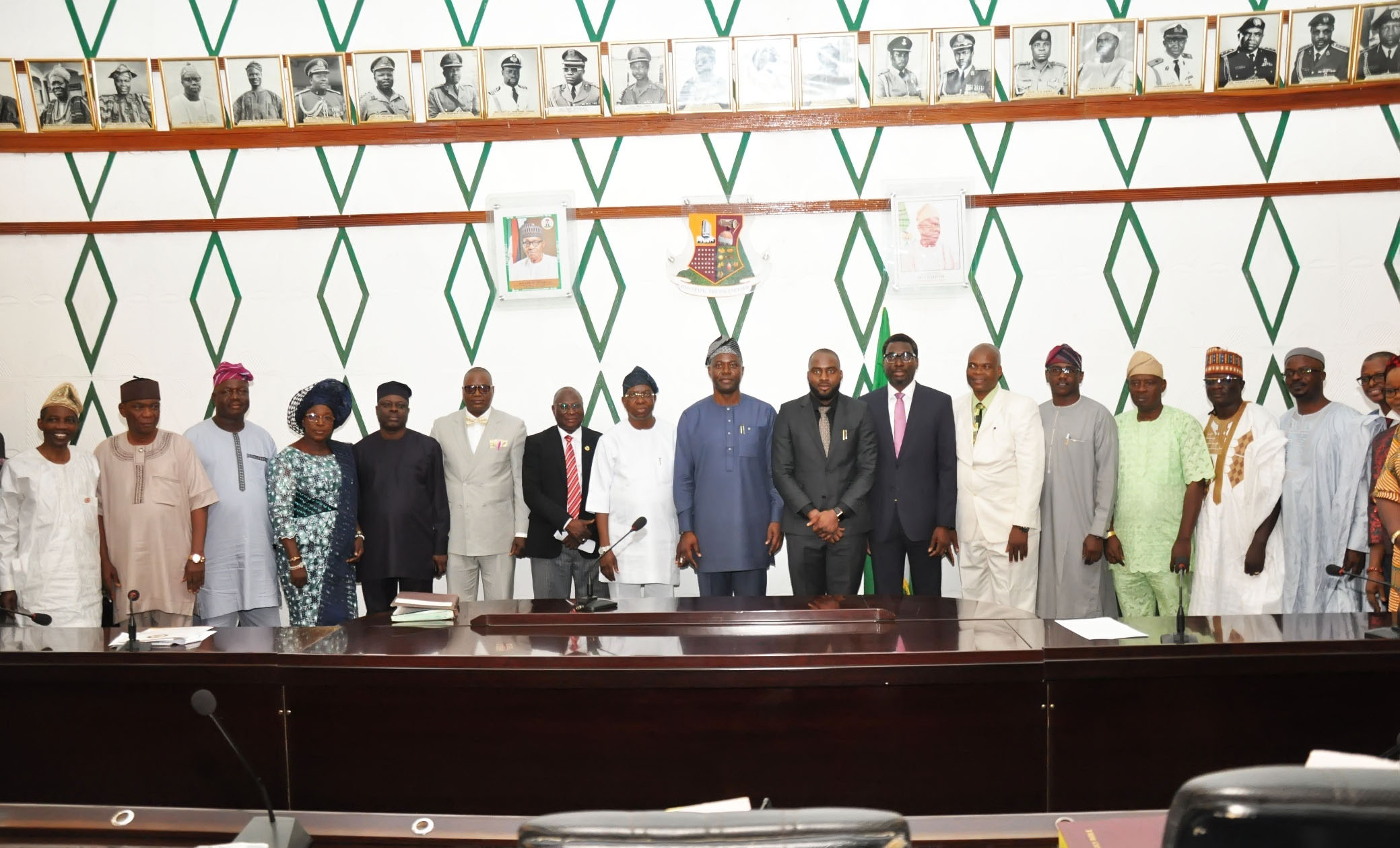 Oyo state governor Engr. Seyi Makinde with the new comissioners