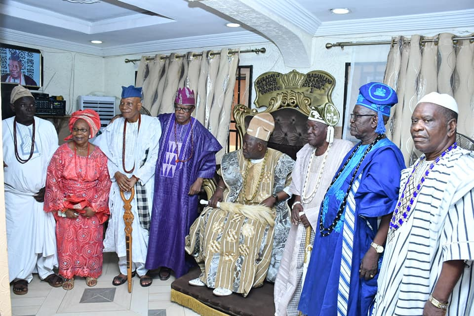 Olubadan of Ibadan with some of the obas