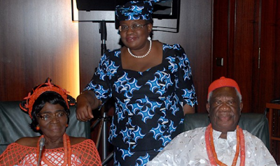 Dr Okonjo and her parent