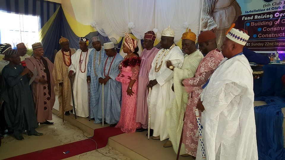 Prof Oyawoye with Traditional Rulers at the event