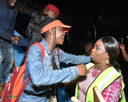 Abike Dabiri receiving returnees from South Africa
