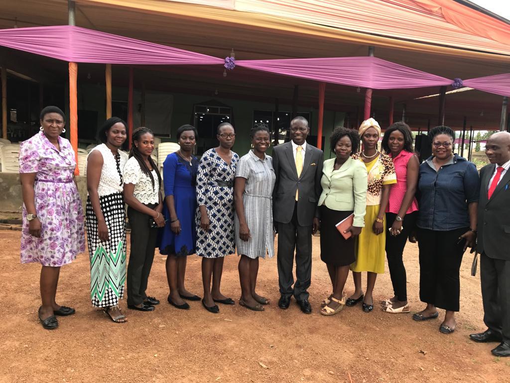 Bishop Wale Oke With some members of NAWOJ