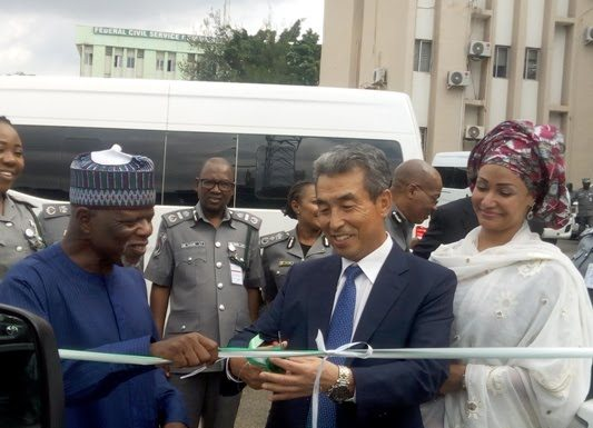 South Korean Embassy dones Mimi bus to Nigeria customs