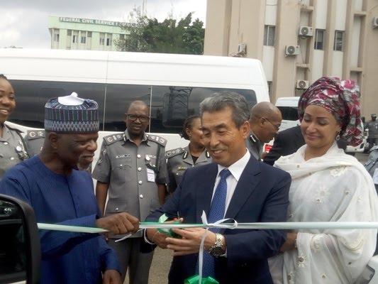 South Korean Embassy dones Mimi bus to Nigeria customs