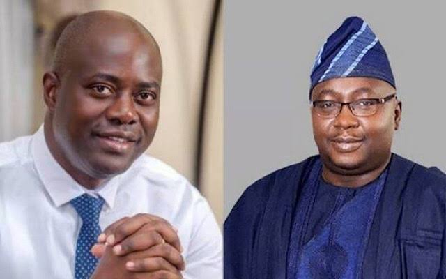 Oyo state Governor, Engineer Seyi Makinde and his Main challenger, Oloye Bayo Adelabu of APC