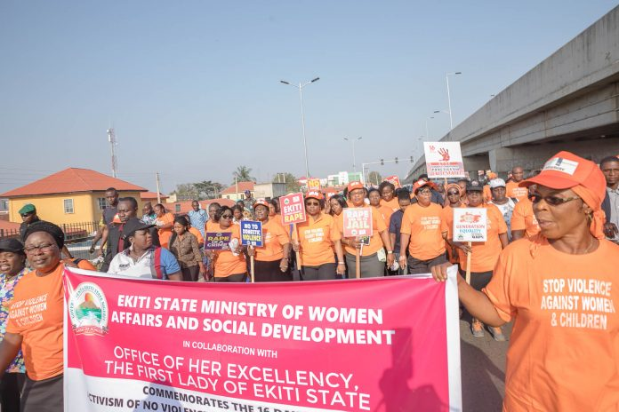 Erelu Bisi Fayemi led campaign against gender based violence