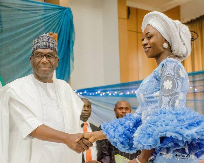 Kwara State Governor AbdulRahman AbdulRazaq congratulating Kolo