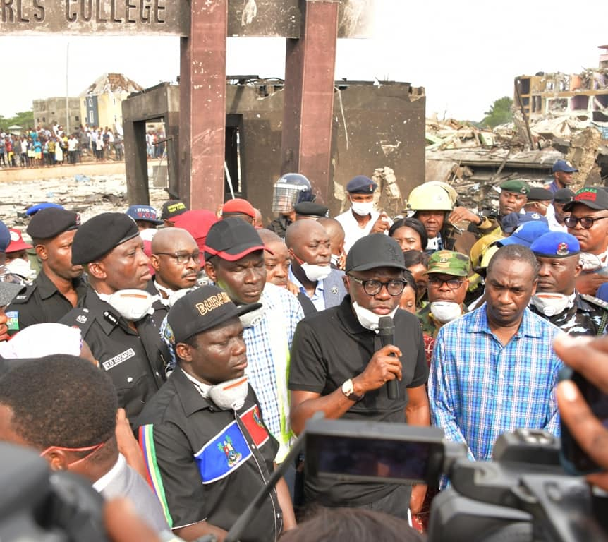 EXPLOSION,SANWO OLU ORDER INVESTIGATION, LAUNCHES 2B RELIEF FUND