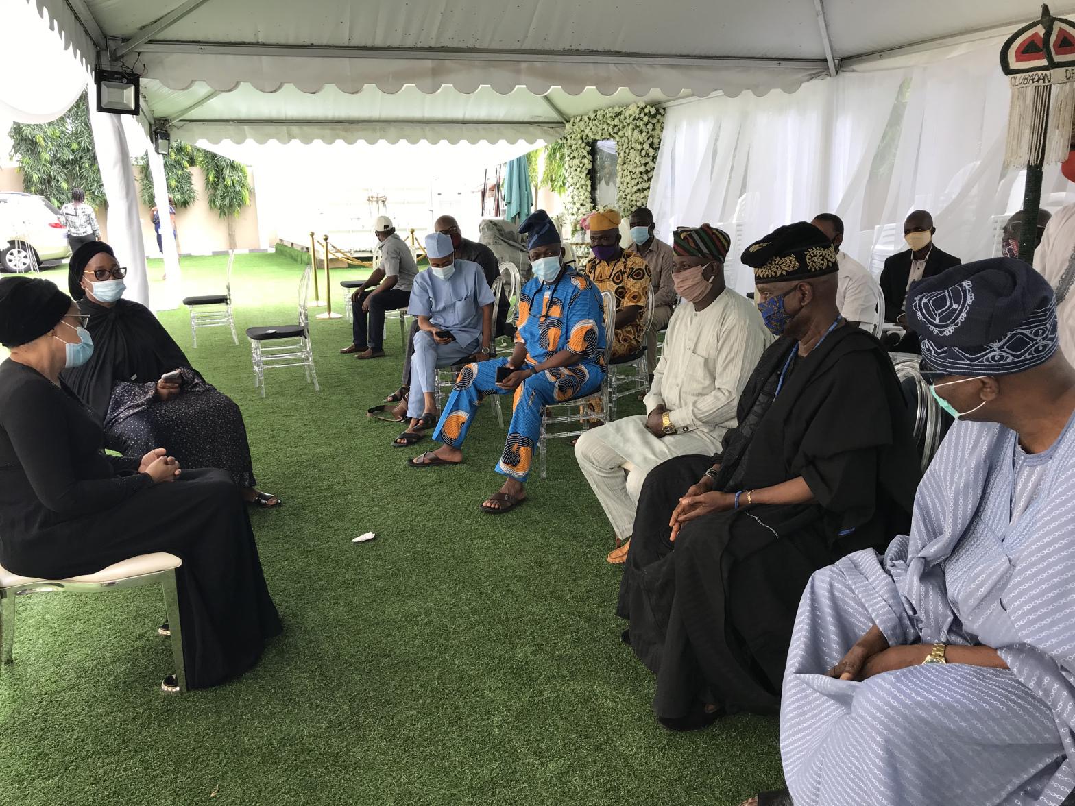 Olubadan Pays Condolence Visit to Ajimobi's Widow