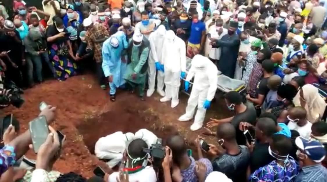 Adegbenro's burial