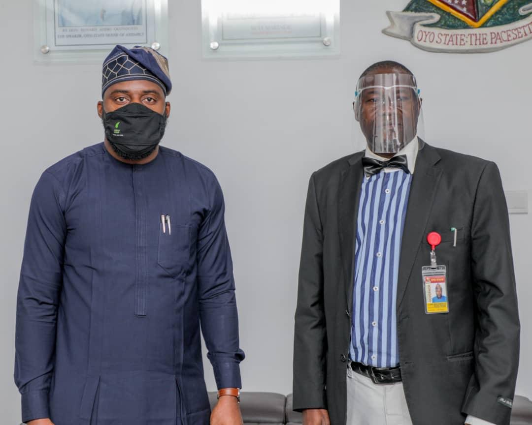 Hon Debo Ogundoyin ,Speaker Oyo State House of Assembly and Hon Akeem Ademola Ige, SA Tourism