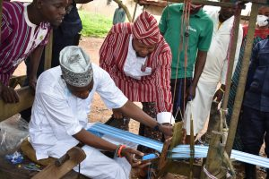 Hon Ige at Aso Ofi weaving Centre in Iseyin