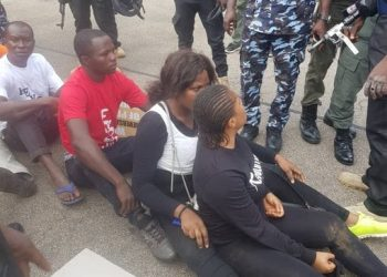 some  of protestants arrested by security agents