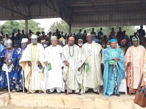 cross section of traditional rulers at the event
