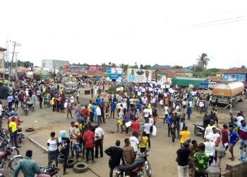 Protesting Youths in Ogbomoso