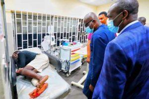 sanwo olu at the hospital