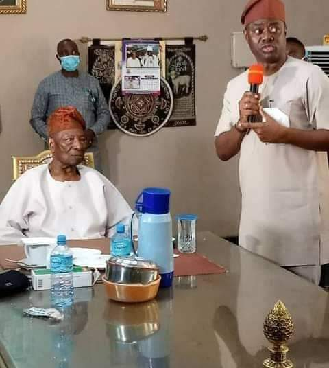 Gov Seyi makinde with Soun of Ogbomosoland Oba Jimoh Oyewumi Ajagungbade 11