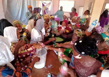 Senator Buhari ,National Productivity Centre Train Women on Soap and Disinfectants Making.