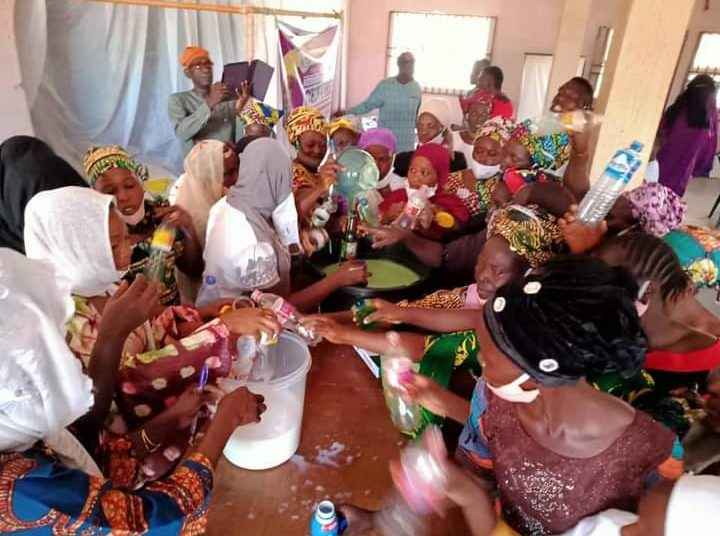 Senator Buhari ,National Productivity Centre Train Women on Soap and Disinfectants Making.