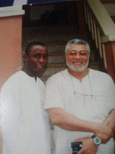 Mr Rawlings with Publisher of National Insight in 2006 in Ghana
