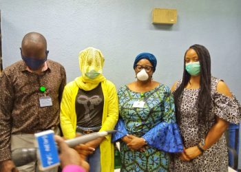 Hon Sadipe,  Adunni Nafisat Oseni and a member of her family
